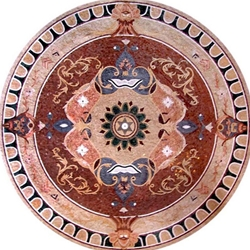 Marble Mosaic Medallion - MM014